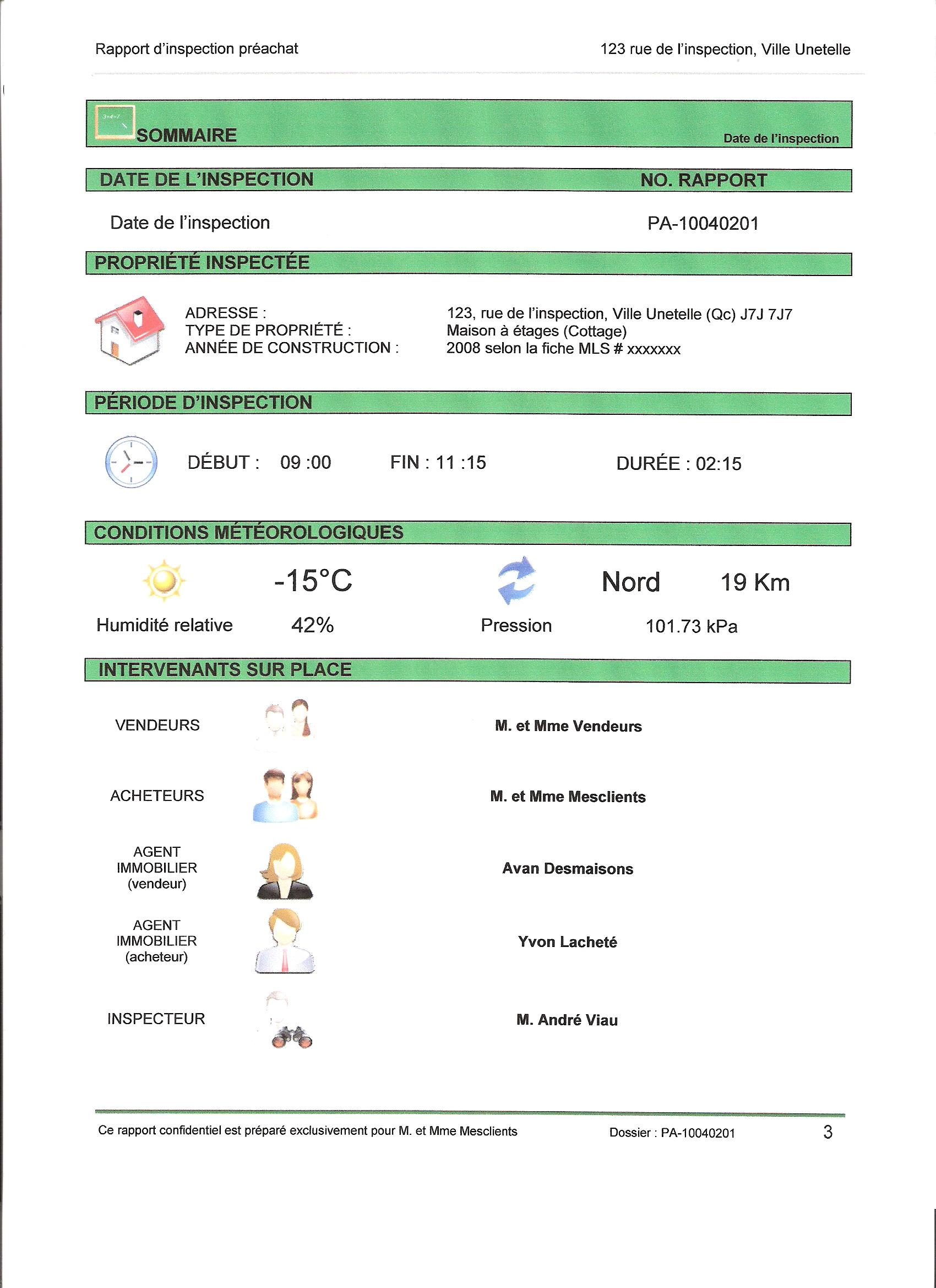 Pr sentation d 39 un rapport for Redaction sur le respect